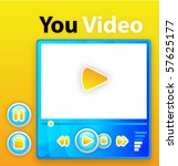 the interface for player... | Shutterstock .eps vector #57625177