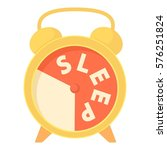 time to sleep icon. cartoon... | Shutterstock . vector #576251824