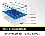 graph showing parts of a solar... | Shutterstock .eps vector #576252928