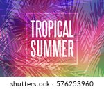 Tropical Summer Background Wit...