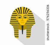 egyptian golden pharaohs mask... | Shutterstock . vector #576256336