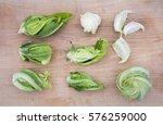 Florets Of Cauliflower On A...