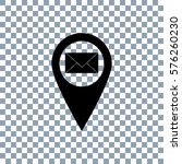 location mail vector icon.... | Shutterstock .eps vector #576260230