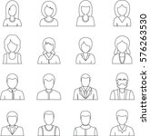 various people icons set.... | Shutterstock . vector #576263530