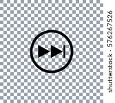next button vector icon  on... | Shutterstock .eps vector #576267526