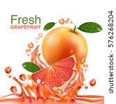 fresh grapefruit vector    Shutterstock .eps vector #576268204