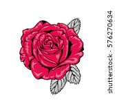 tattoo style rose illustration... | Shutterstock .eps vector #576270634