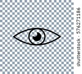 eye icon vector on transporent... | Shutterstock .eps vector #576271186