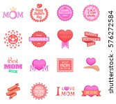 mother day icons set. cartoon... | Shutterstock . vector #576272584
