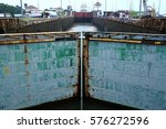 locks closing at the panama... | Shutterstock . vector #576272596