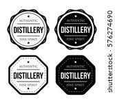 distillery vintage logo stamp | Shutterstock .eps vector #576274690