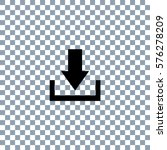 download icon on transporent... | Shutterstock .eps vector #576278209