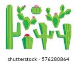 vector set of different cartoon ... | Shutterstock .eps vector #576280864
