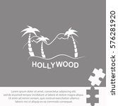 hollywood  icon vector design. | Shutterstock .eps vector #576281920
