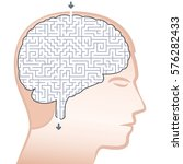 brain maze   symbol for complex ... | Shutterstock .eps vector #576282433