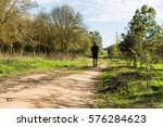 big belly man jogging  ... | Shutterstock . vector #576284623