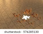 3d illustration   puzzle build... | Shutterstock . vector #576285130