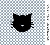 cat icon vector on transparent...