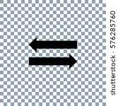 arrow icon on transporent... | Shutterstock .eps vector #576285760