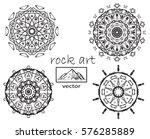 outline mandala for coloring... | Shutterstock .eps vector #576285889