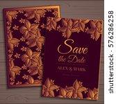 wedding invitation card suite... | Shutterstock .eps vector #576286258