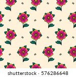 seamless vector pattern in... | Shutterstock .eps vector #576286648