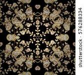 golden seamless wallpaper ... | Shutterstock .eps vector #576288334