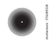 halftone circle vector.... | Shutterstock .eps vector #576289228