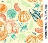 decorative seamless pattern...   Shutterstock .eps vector #576292408