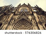 cologne cathedral. world... | Shutterstock . vector #576306826