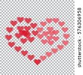 Red Hearts Translucent Arrange...