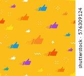 seamless pattern made of flat... | Shutterstock .eps vector #576309124