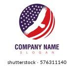 patriotic american eagle   Shutterstock .eps vector #576311140