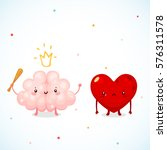 brain and heart  logic and feel ... | Shutterstock .eps vector #576311578