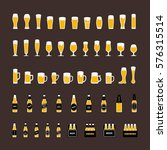 beer bottles and glasses icons... | Shutterstock .eps vector #576315514