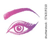illustration with woman's eye... | Shutterstock .eps vector #576319210