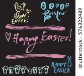 creative set of easter icons...   Shutterstock .eps vector #576322489