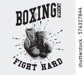 vintage boxing gloves vector... | Shutterstock .eps vector #576327844