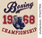 vintage boxing gloves vector... | Shutterstock .eps vector #576327904
