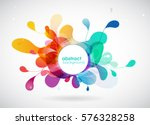 Abstract colored flower background with circles. | Shutterstock vector #576328258