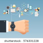 time management planning and... | Shutterstock .eps vector #576331228
