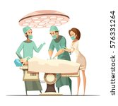 surgery design in cartoon retro ... | Shutterstock .eps vector #576331264