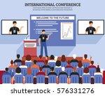 presentation conference hall... | Shutterstock .eps vector #576331276