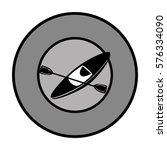 monochrome circular border with ... | Shutterstock .eps vector #576334090