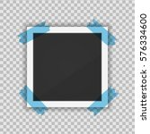vector paper frame isolated on... | Shutterstock .eps vector #576334600