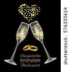 luxury wedding invitation card... | Shutterstock .eps vector #576335614