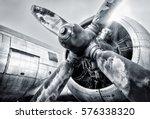 engine of an aircraft   Shutterstock . vector #576338320