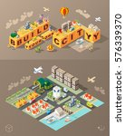 build your own city . set of... | Shutterstock .eps vector #576339370