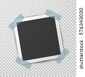 realistic square photo frame... | Shutterstock .eps vector #576343030