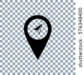 marker vector icon on... | Shutterstock .eps vector #576348400